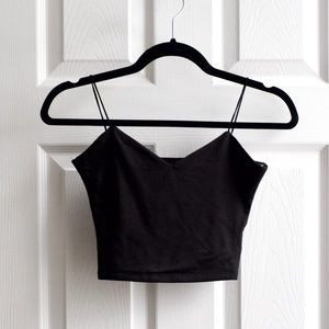 Windsor Cropped Tank Top in Black
